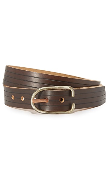 Cause and Effect Embossed Leather Belt