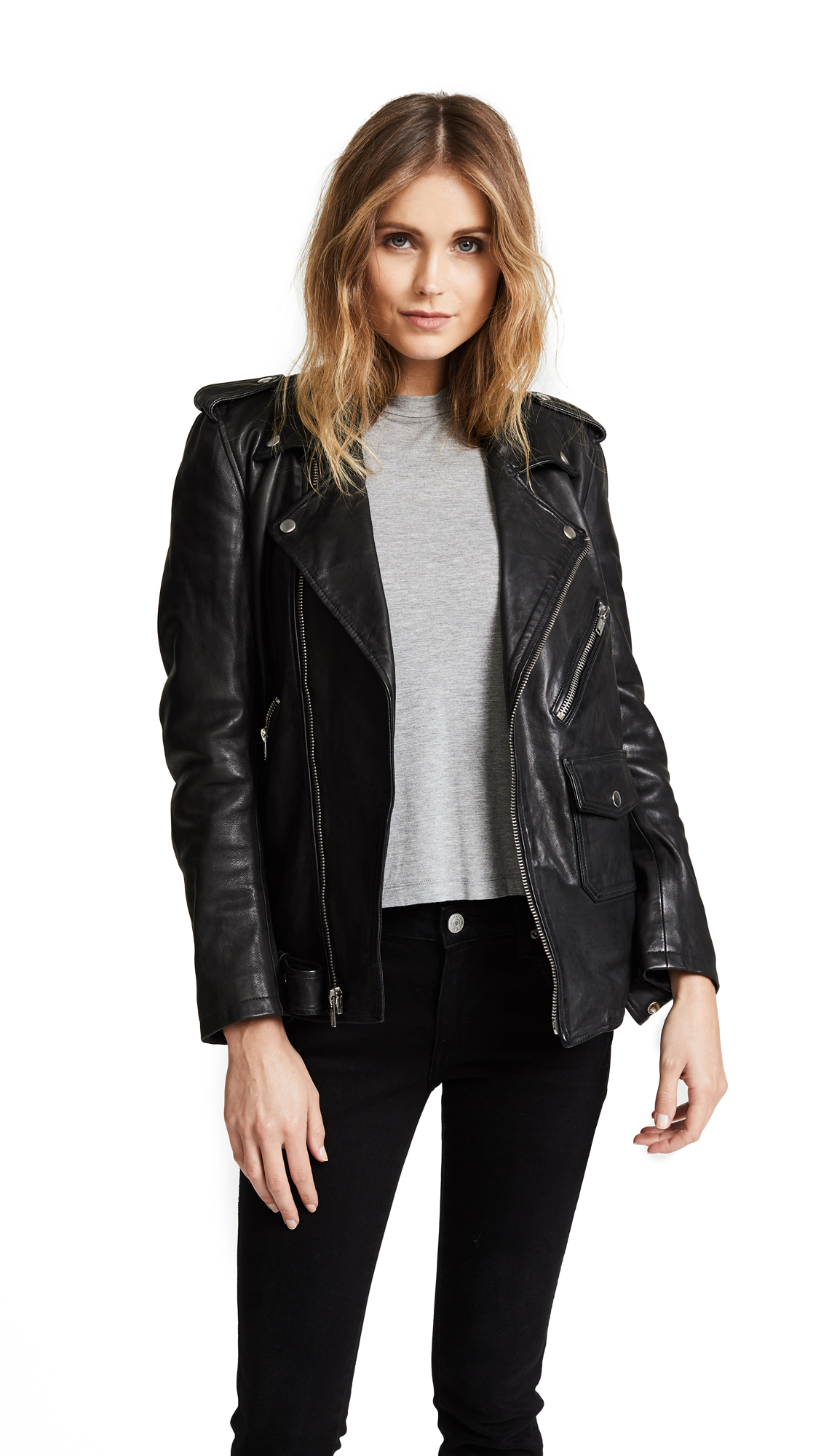 Christian Benner Solid Moto Jacket - Black