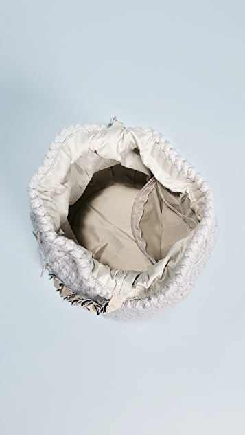 Caterina Bertini Wool Knit Bucket Bag
