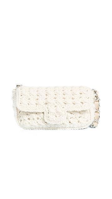 Caterina Bertini Wool Knit Shoulder Bag