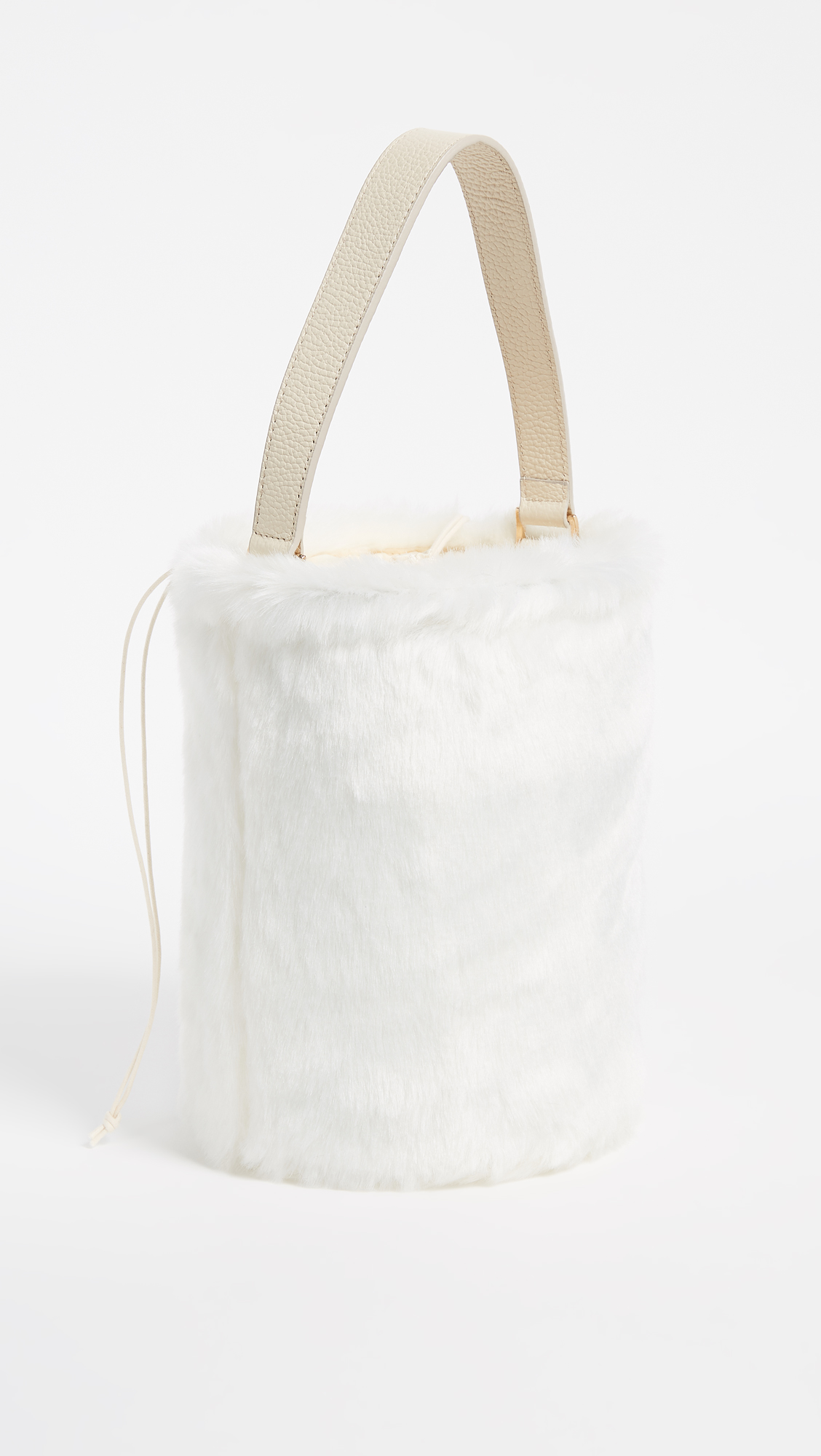452d2ed056 Caterina Bertini Faux Fur Bucket Bag
