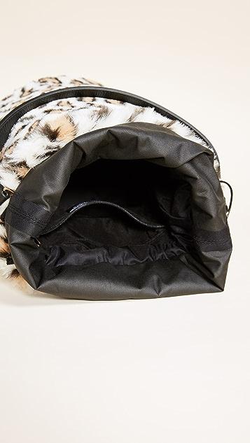 Caterina Bertini Faux Fur Bucket Bag