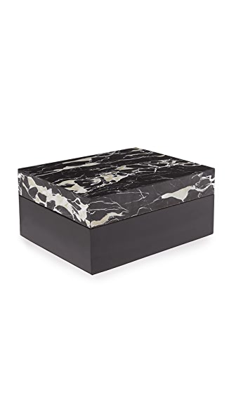 Carla Carstens Noir Marble Acrylic Medium Rectangular Box at Shopbop