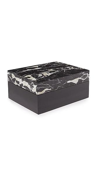 Carla Carstens Noir Marble Acrylic Medium Rectangular Box