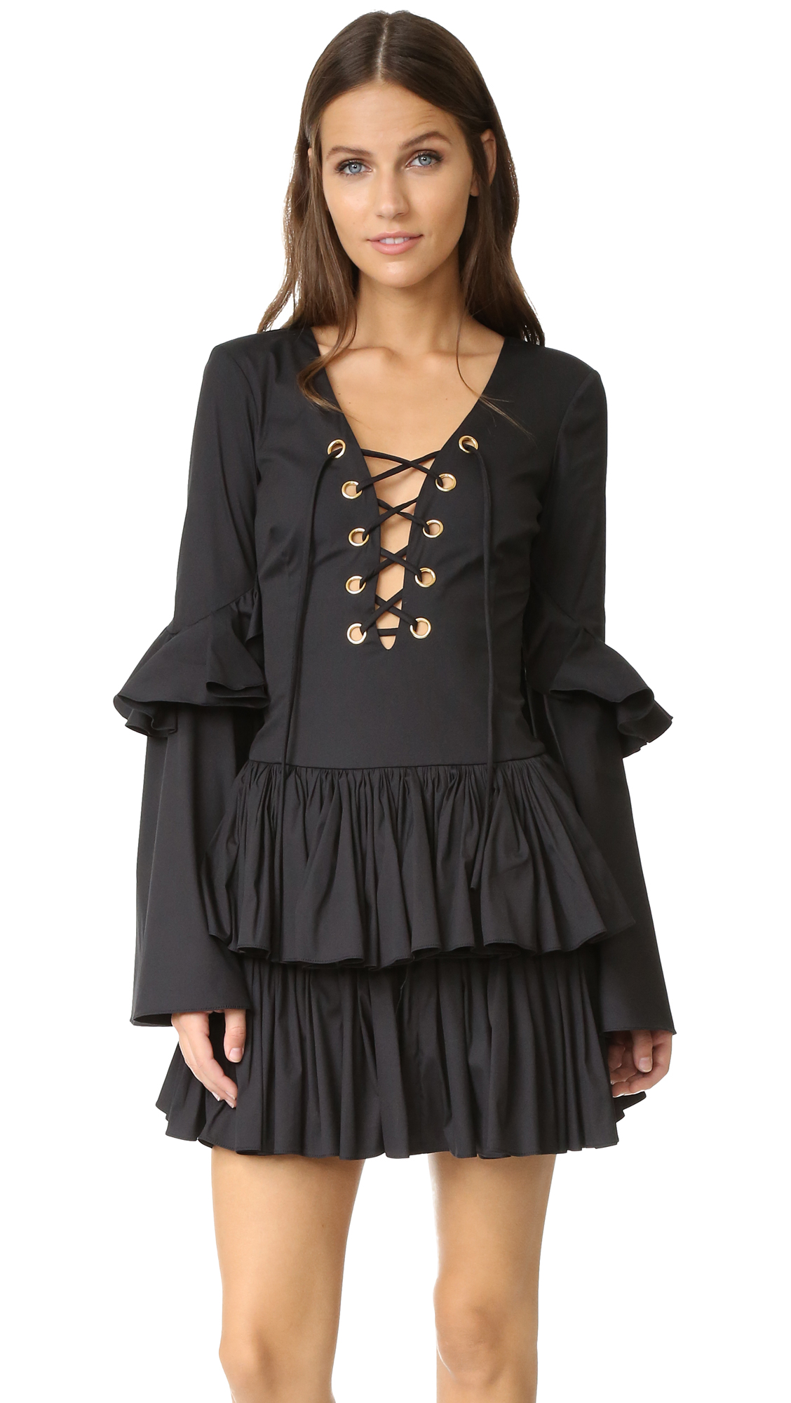 Caroline Constas Anastasi Dress - Black