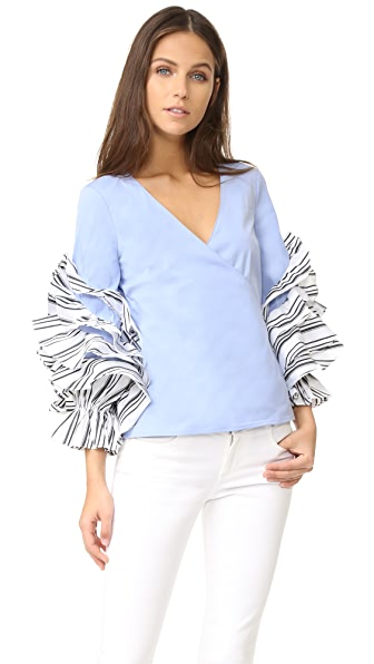 Caroline Constas Athena Blouse - French Blue