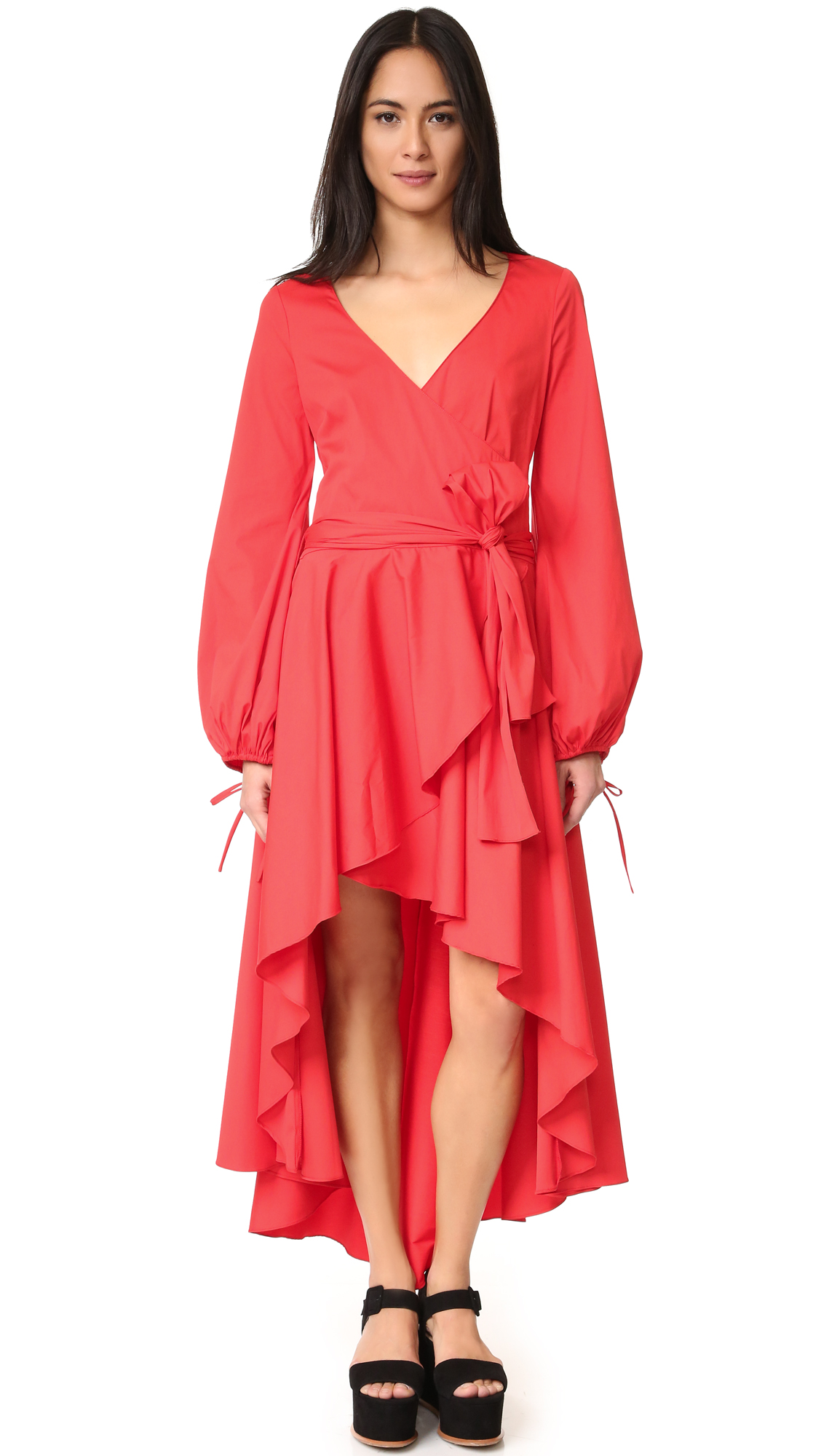 Caroline Constas Lena Dress - Red