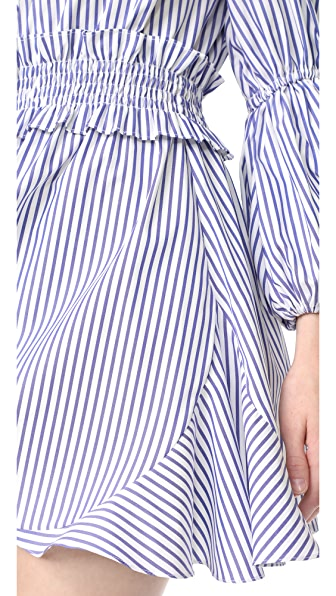 CAROLINE CONSTAS Bardot Peasant Dress