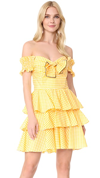 Caroline Constas Helena Dress - Yellow