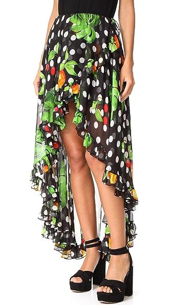 Caroline Constas Adele Skirt - Black Multi