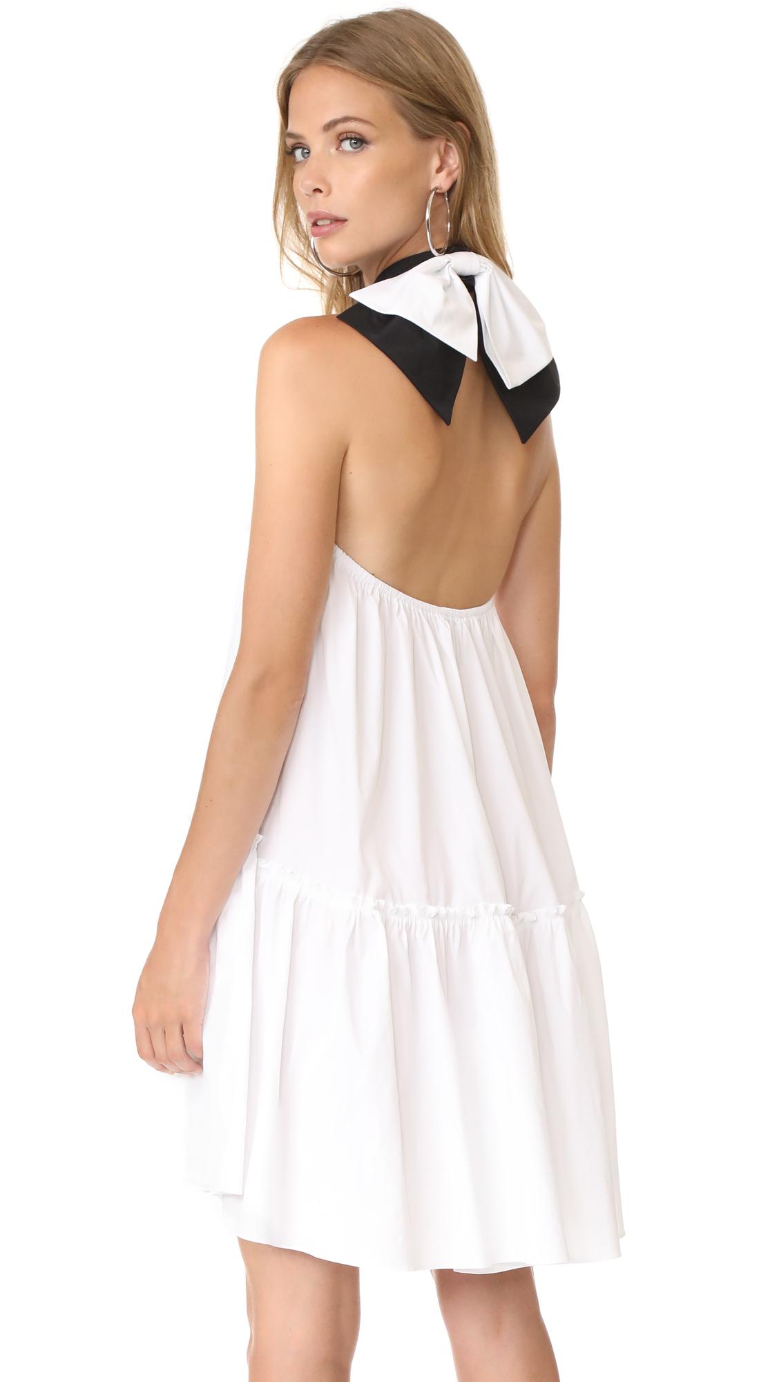 Caroline Constas Bo Dress - White/Black