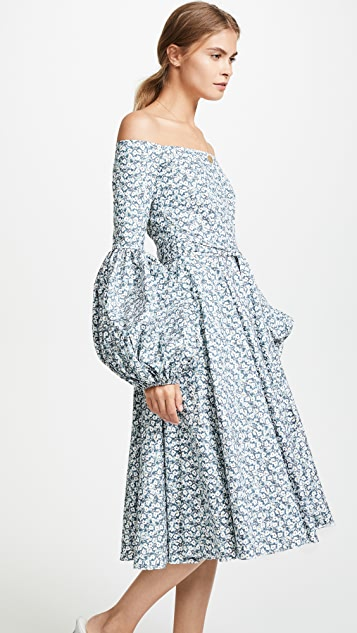 Caroline Constas Gisele Tea Length Dress