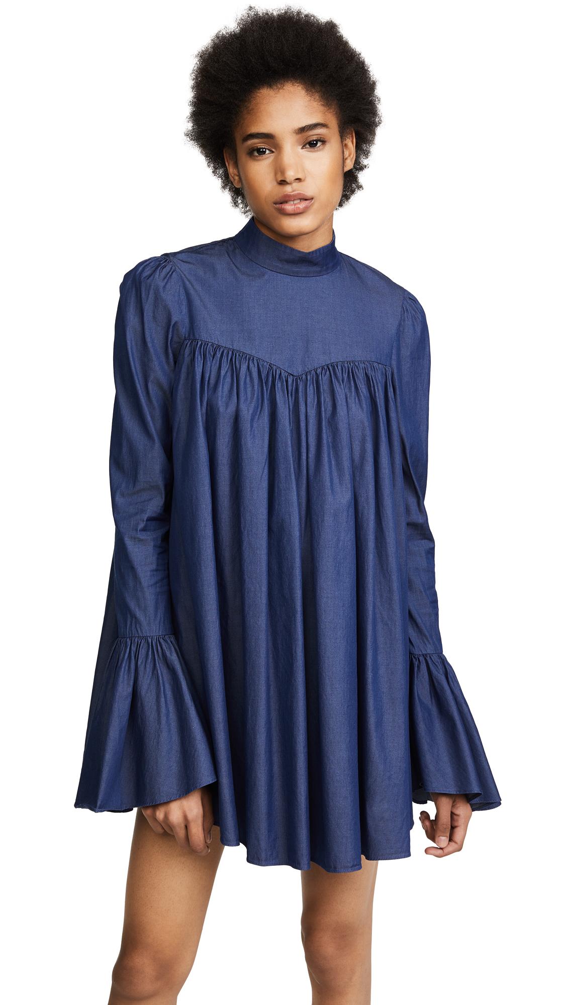 Caroline Constas James Mini Dress - Dark Denim
