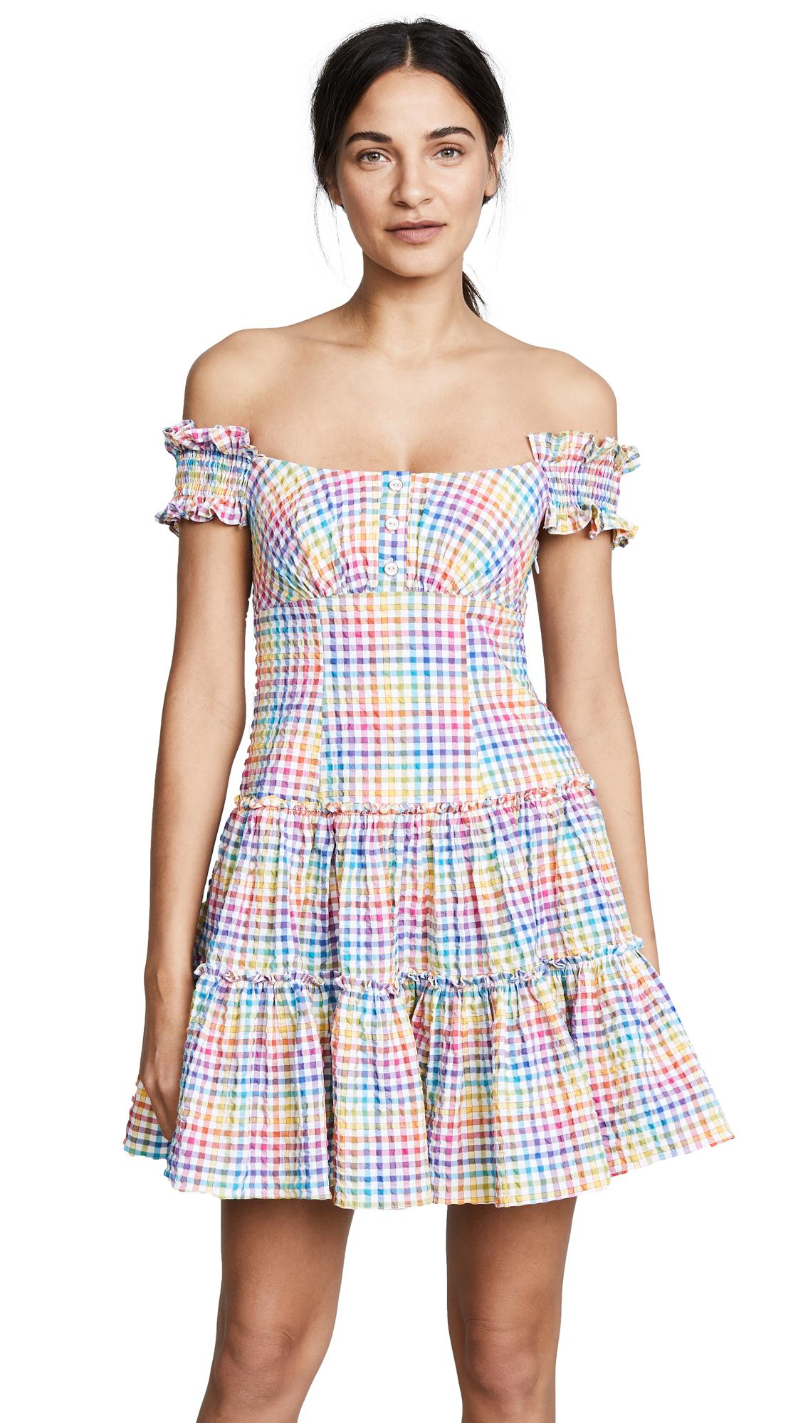 Caroline Constas Maria Dress - Rainbow