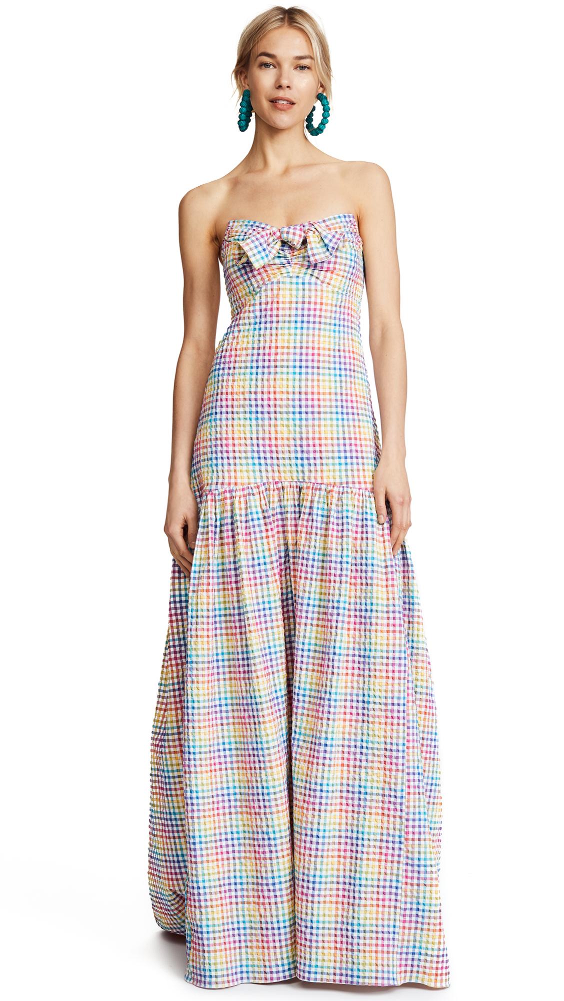 Caroline Constas Strapless Bustier Dress
