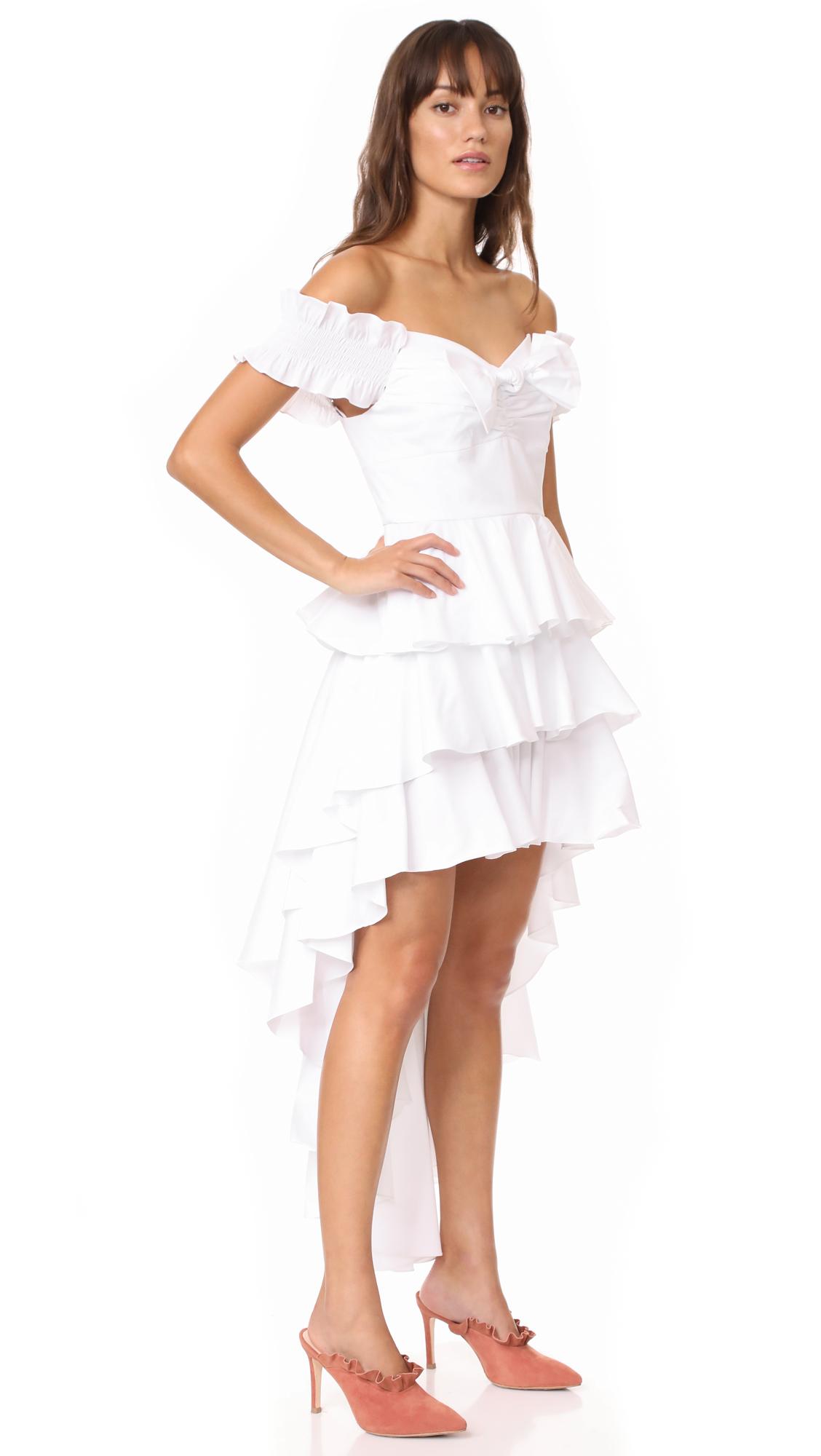 Caroline Constas Artemis Bustier Dress - White