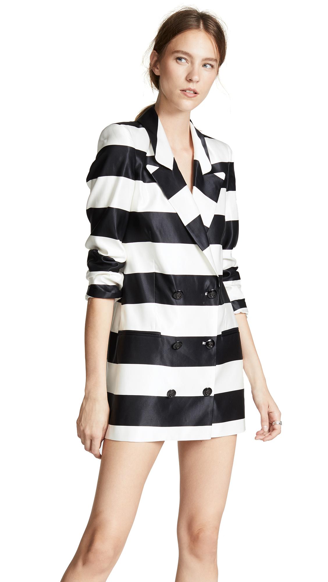 Caroline Constas Catrina Jacket In Black/White