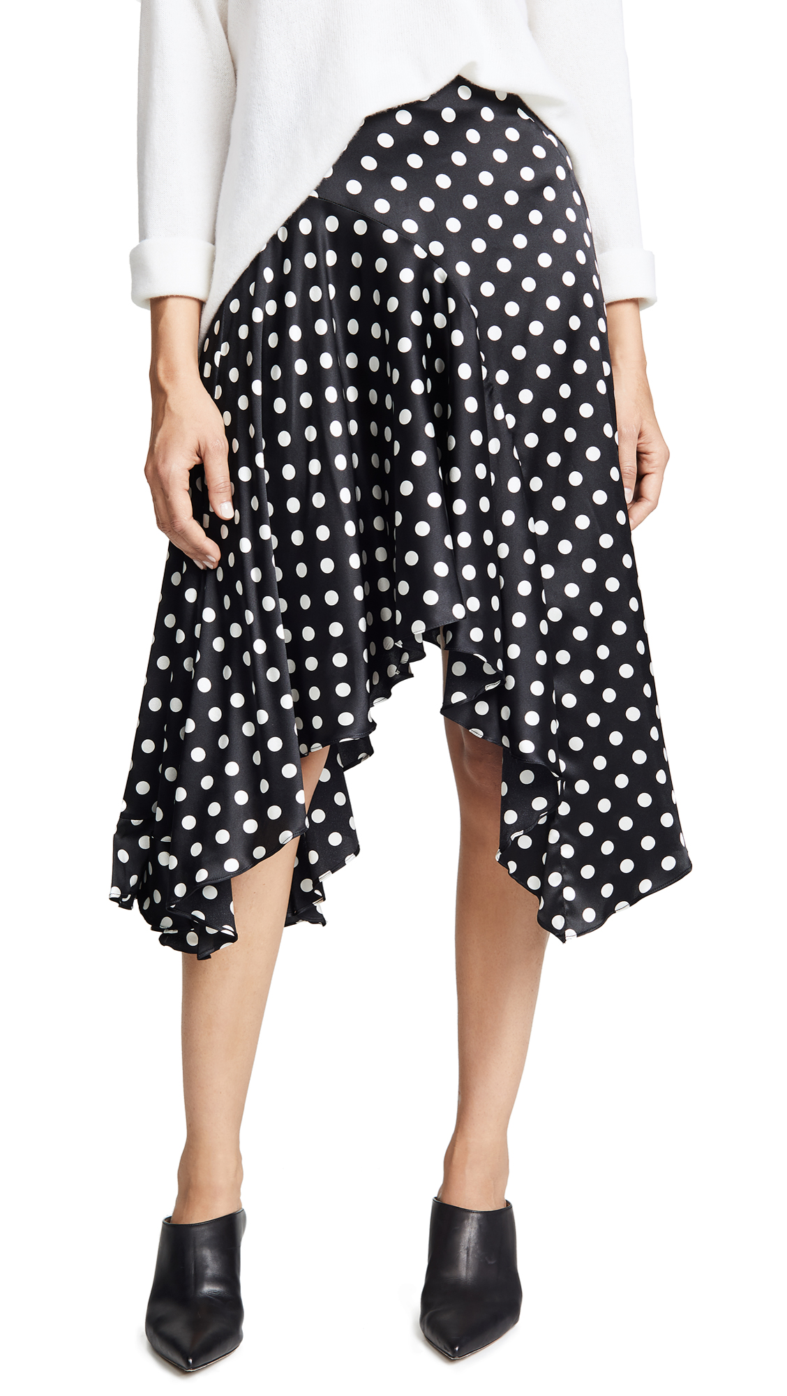 Caroline Constas Flounce Skirt In Black