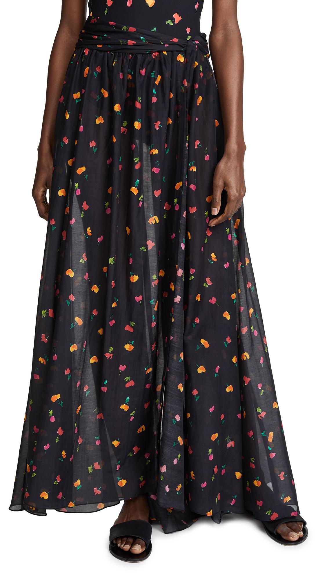 Caroline Constas Hera Skirt - Black Multi