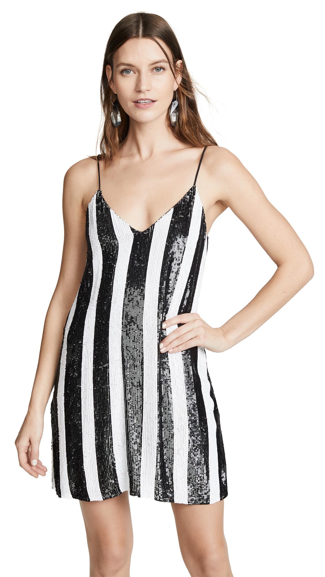 Caroline Constas Elena Slip Dress - Black/White