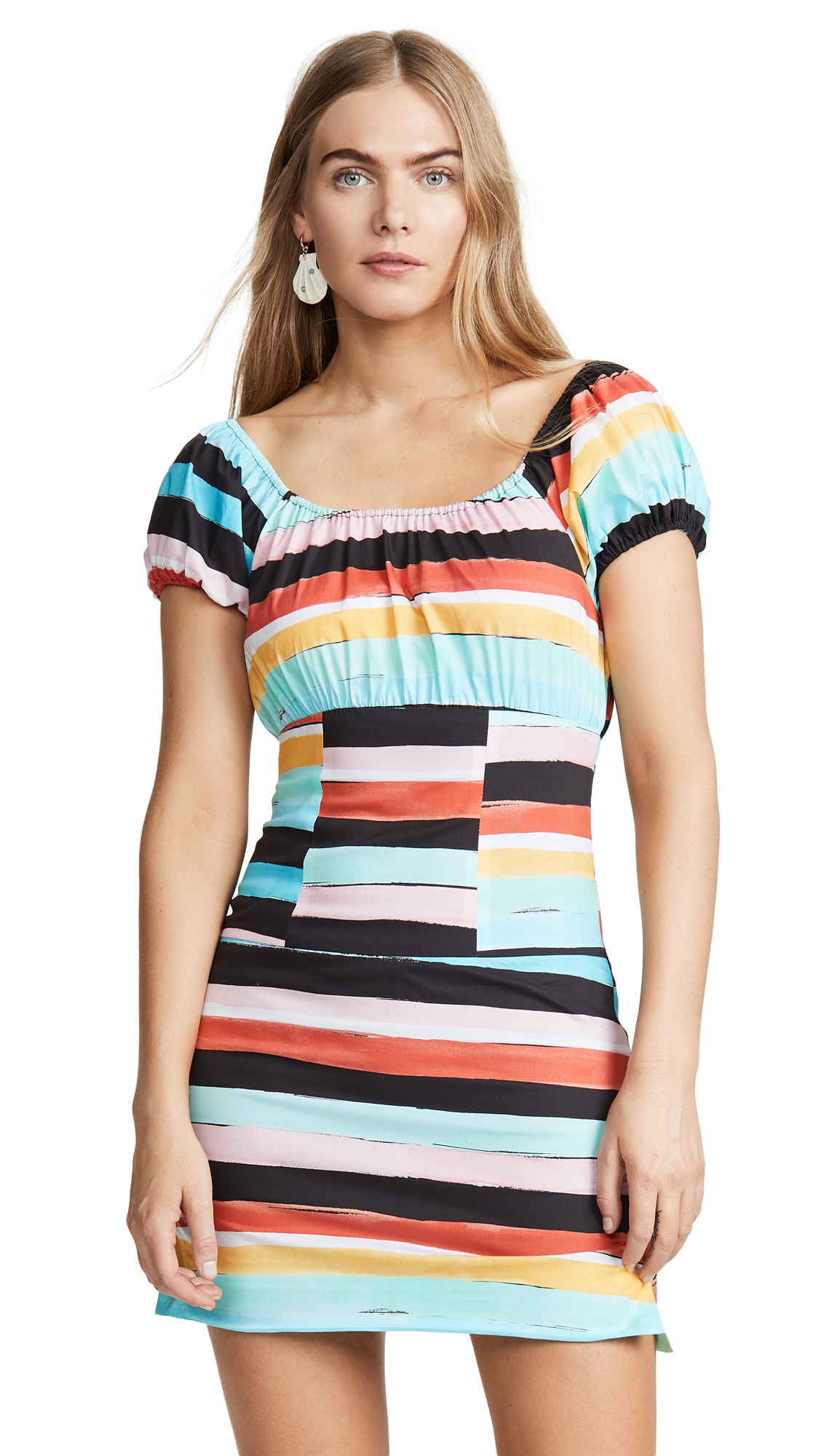 Caroline Constas Calla Mini Dress - Black Multi