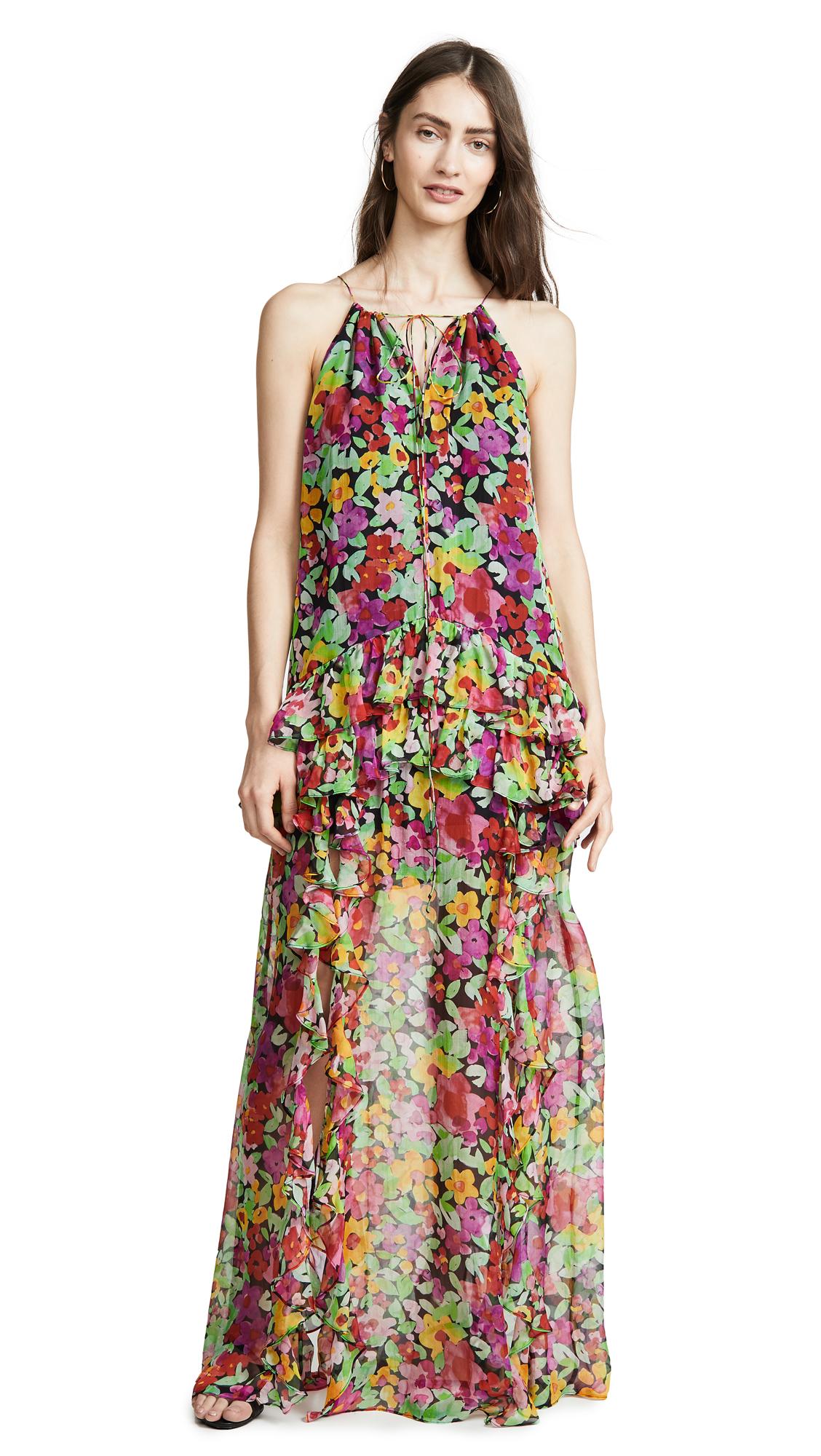Caroline Constas Isla Maxi Dress - Black Multi