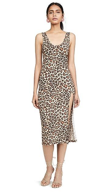 Caroline Constas Leopard Tank Dress