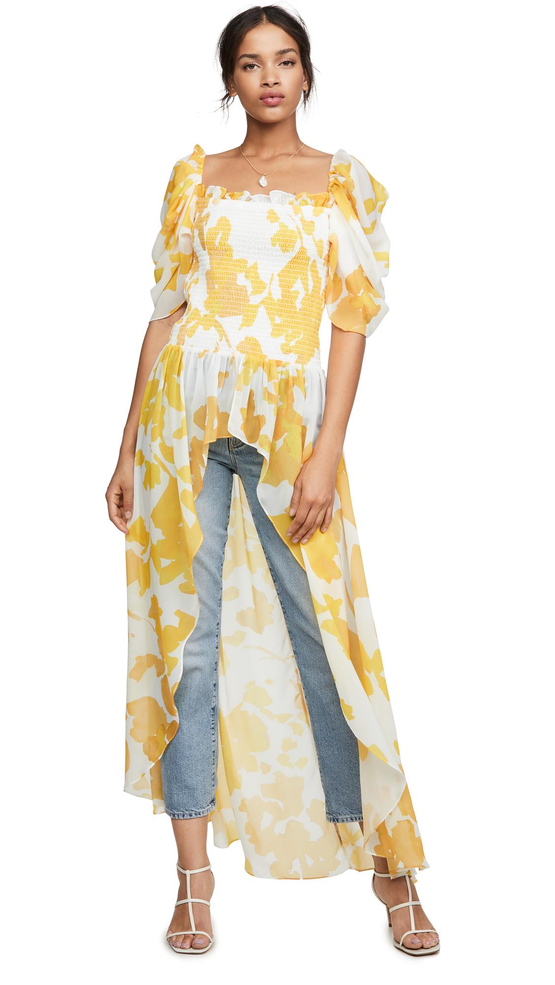 Buy Caroline Constas online - photo of Caroline Constas Smocked Cape Top