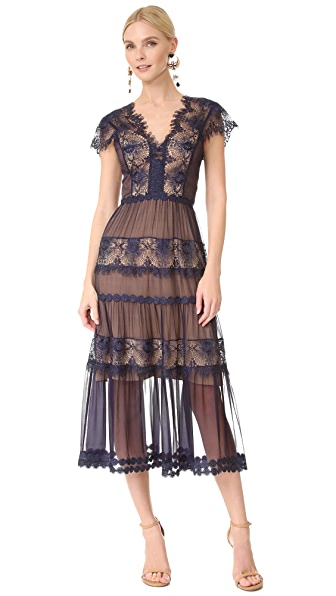 Catherine Deane Gwyneth Lace Cap Sleeve Dress