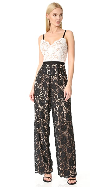 Catherine Deane Hope Lace Jumpsuit - Black/White