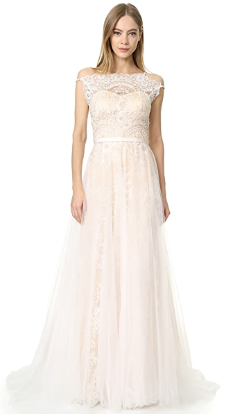 Catherine Deane Harlow Gown - Oyster/Champagne