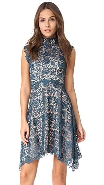 Catherine Deane Izzy Dress - Metallic Teal/Almond