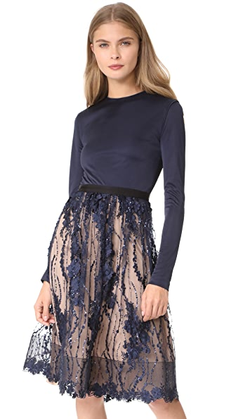 Catherine Deane January Dress In Navy/Almond