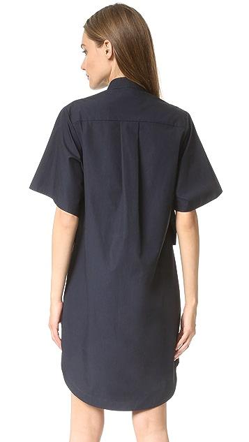 Derek Lam 10 Crosby Button Down Tie Shirtdress