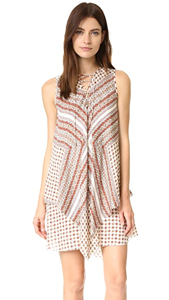 Derek Lam 10 Crosby Sleeveless Lace Up Dress