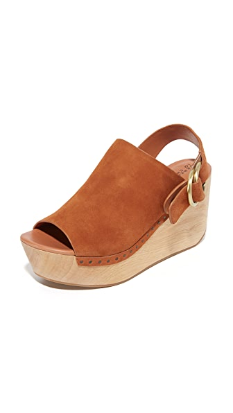 Derek Lam 10 Crosby Fiona Platform Clogs - Rust at Shopbop