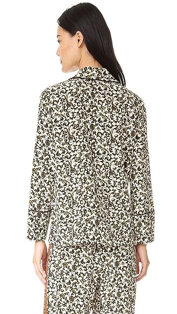 Derek Lam 10 Crosby Silk Pajama Blouse