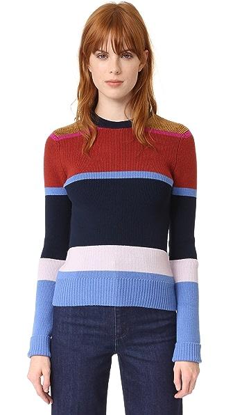 Derek Lam 10 Crosby Striped Sweater - Blue Stripe