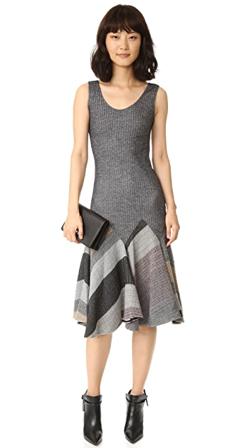 Derek Lam 10 Crosby Godet Tank Dress