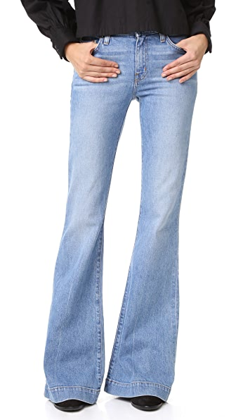 Derek Lam 10 Crosby Noha Mid Rise Sexy Flare Jeans - Light Wash at Shopbop