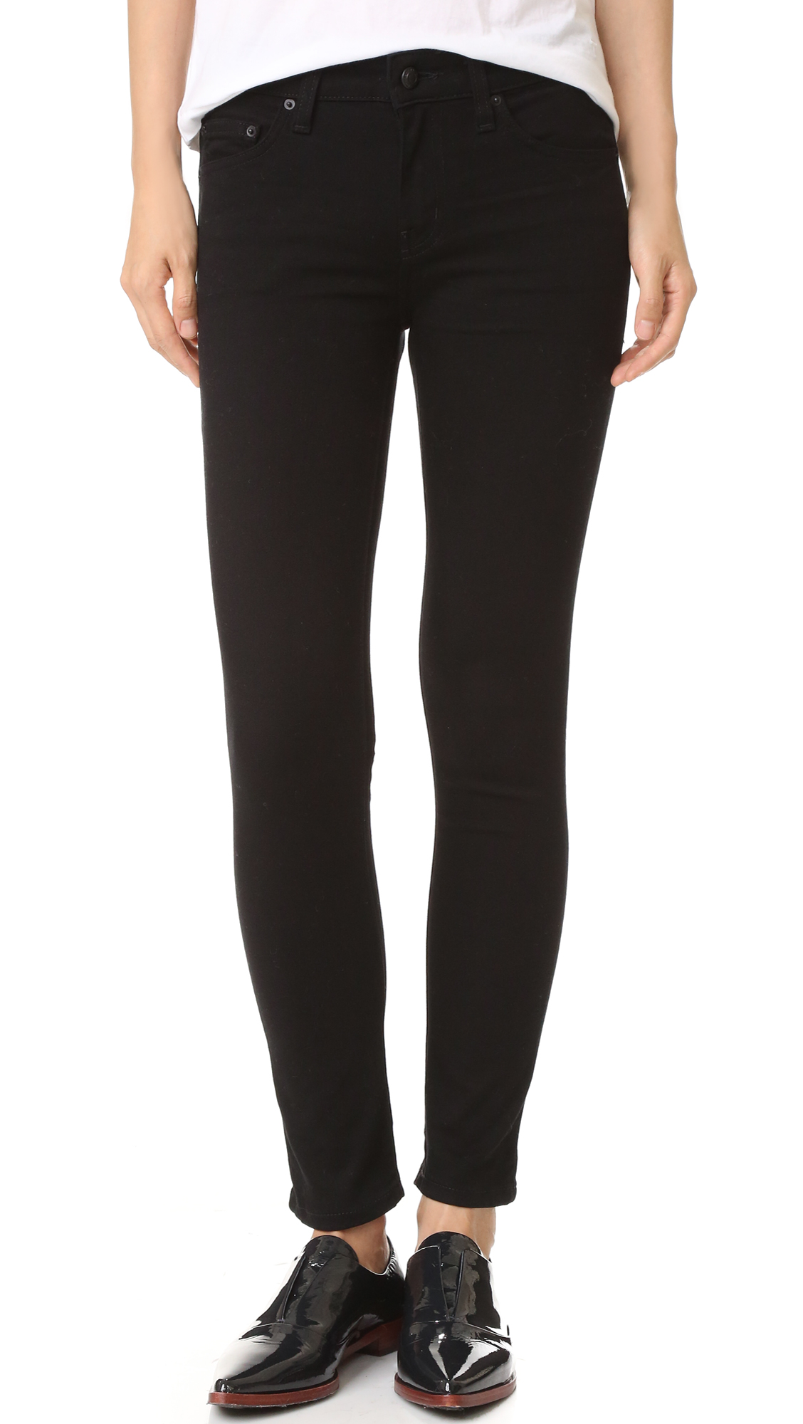 Derek Lam 10 Crosby Devi Midrise Skinny Jeans - Black at Shopbop