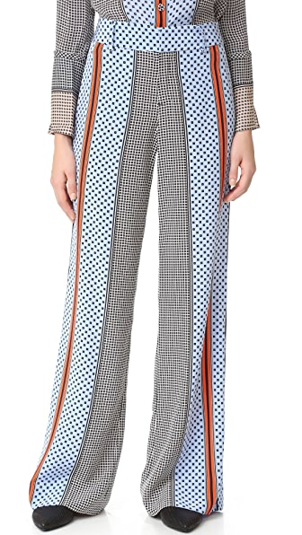 Derek Lam 10 Crosby Wide Leg Pajama Trousers