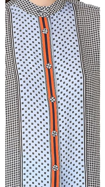 Derek Lam 10 Crosby Bell Sleeve Pajama Top
