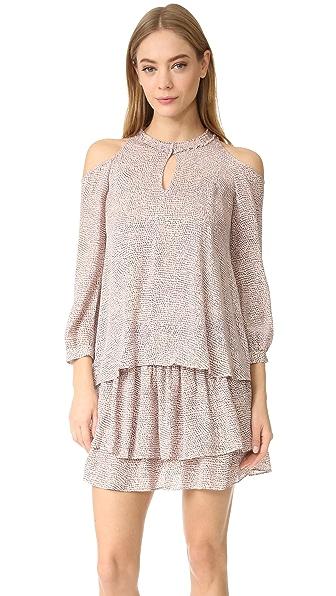 Derek Lam 10 Crosby Long Sleeve Cold Shoulder Dress - Pink