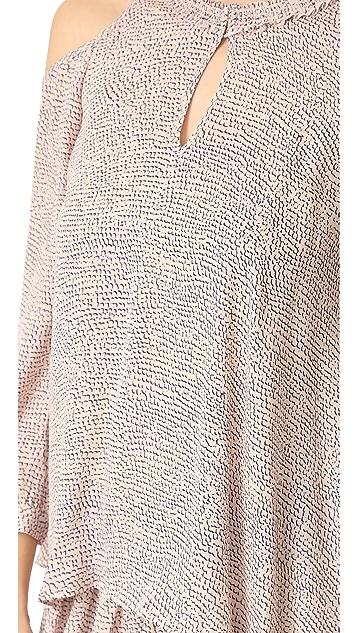 Derek Lam 10 Crosby Long Sleeve Cold Shoulder Dress