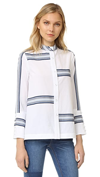 Derek Lam 10 Crosby Bell Sleeve Button Down Shirt