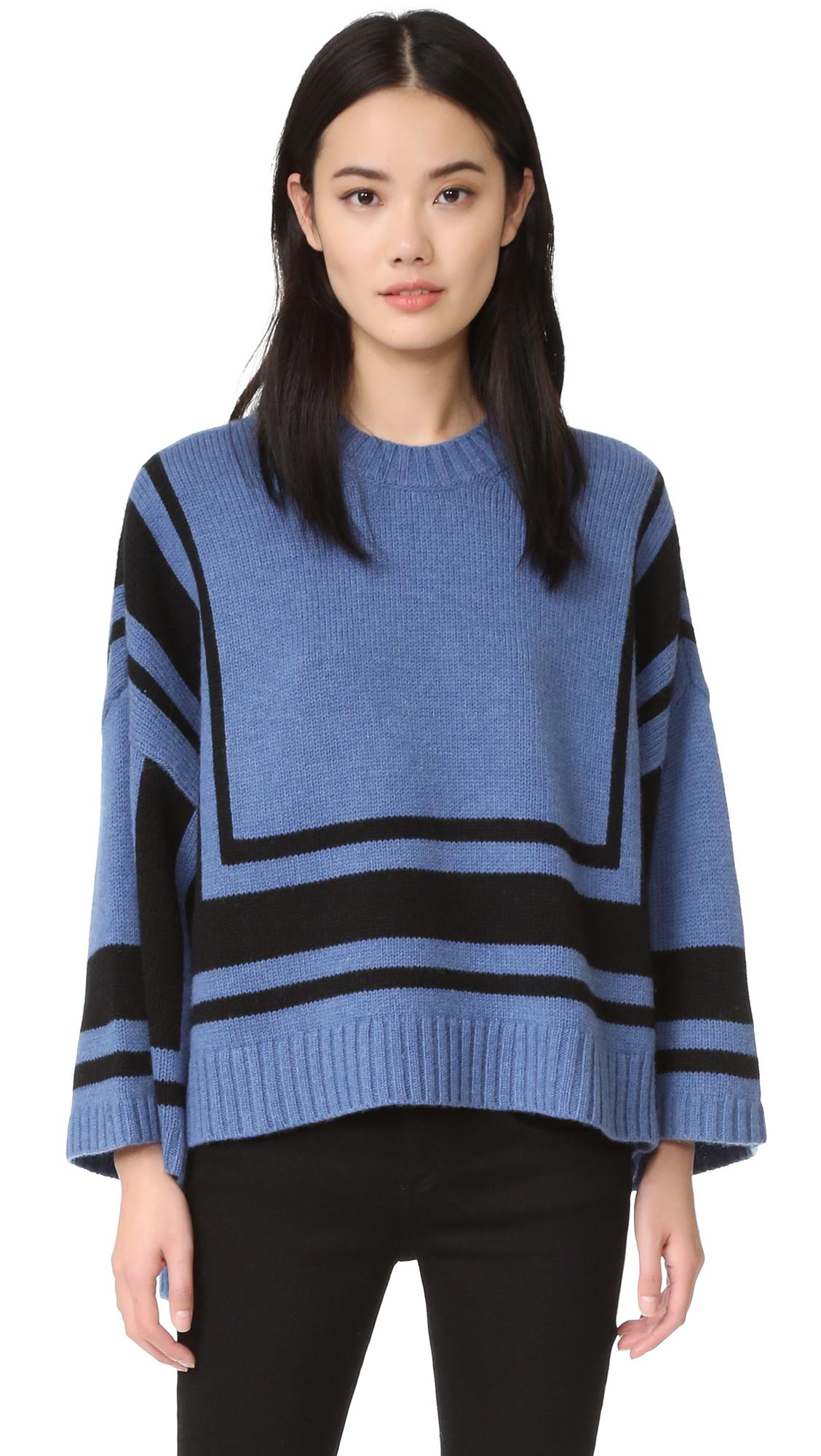 Derek Lam 10 Crosby Bold Stripe Sweater - Blue Multi