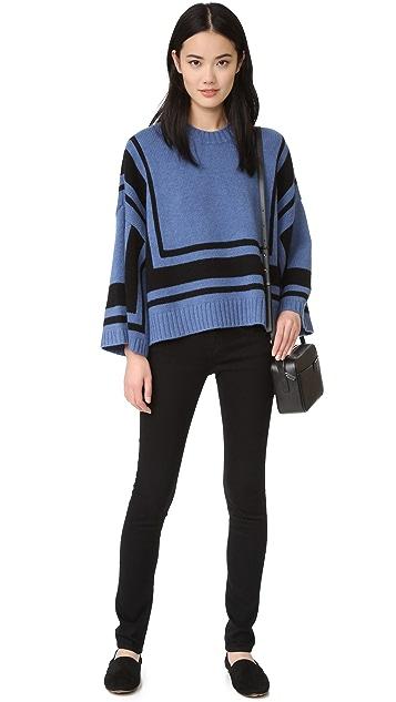 Derek Lam 10 Crosby Bold Stripe Sweater