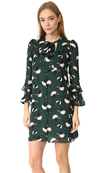 Derek Lam 10 Crosby Dress with Ruffle Sleeves