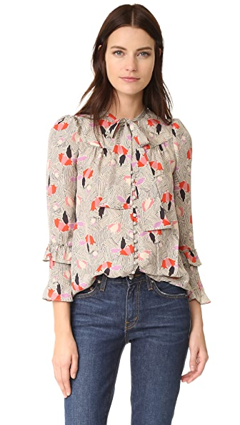 Derek Lam 10 Crosby Blouse with Ruffle Sleeves